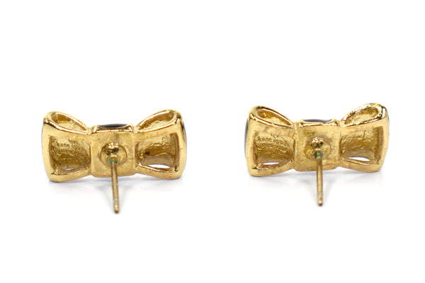 KATE SPADE Take A Bow Stud Earrings - back view