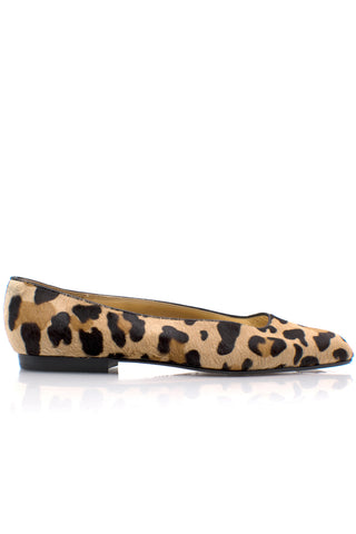 BALLY Pony Hair Leopard Flats