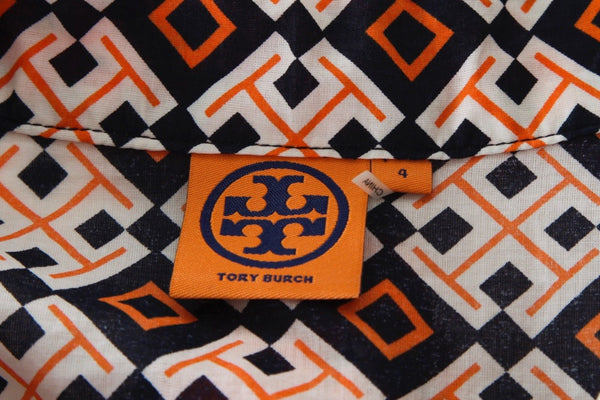 TORY BURCH Printed Tunic Size 4