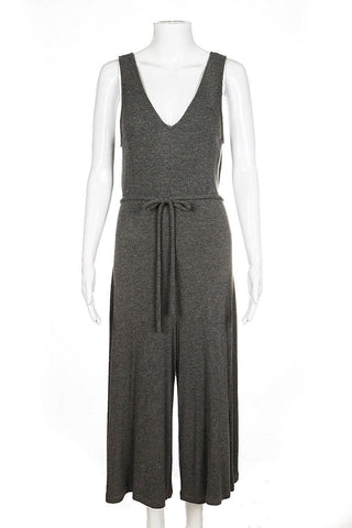 style-hunting SECRET THREAD CO. Jumpsuit Romper Medium Grey Culotte Pant
