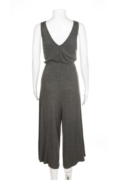 SECRET THREAD CO. Jumpsuit Romper Grey Culotte Pant