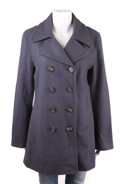 J.CREW Jacket Women's Medium Wool Blend Purple Peacoat