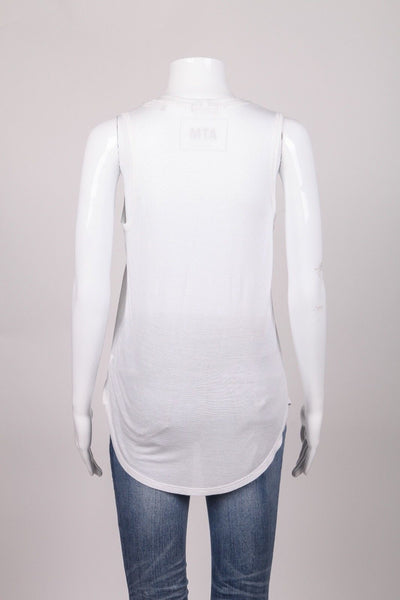 Basic Tank Top Solid White Size XS
