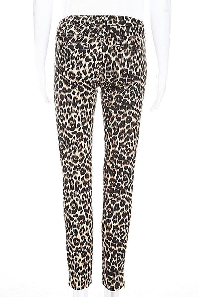 JUICY COUTURE Skinny Pants Cheetah Print Size 26