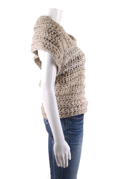 LILIAN EVE Chunky Knit Open Back Sweater