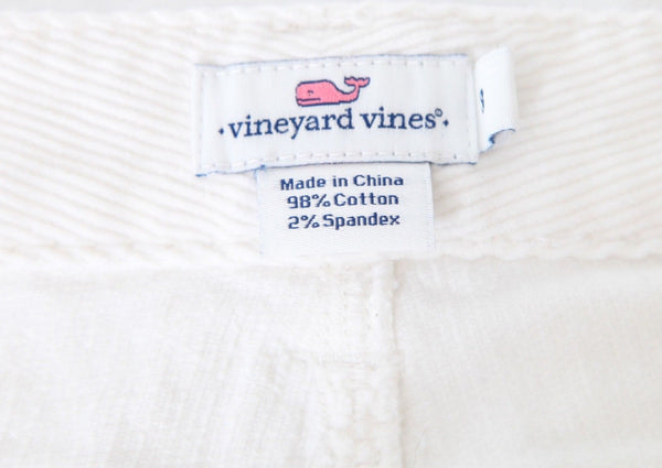 VINEYARD VINES Slim Cropped Corduroy Pants Size 8