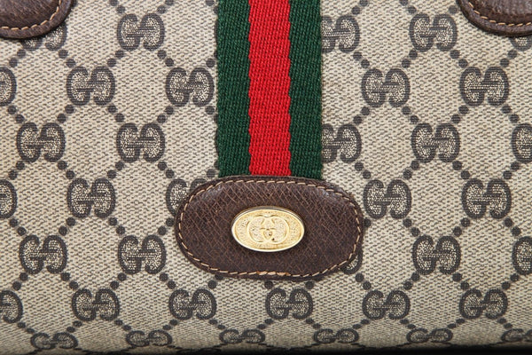 GUCCI Vintage Monogram Leather Handbag