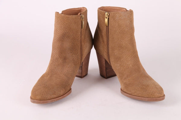 FRANCO SARTA Dipali Tan Brown Ankle Booties Size 8.5