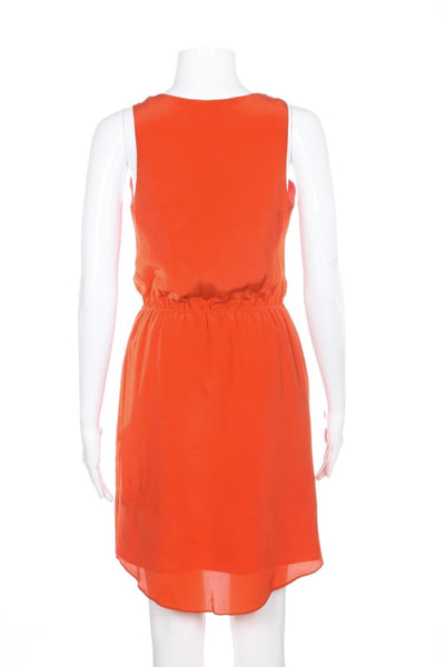 ALEX + ALEX Dress 100% Silk Orange Size S