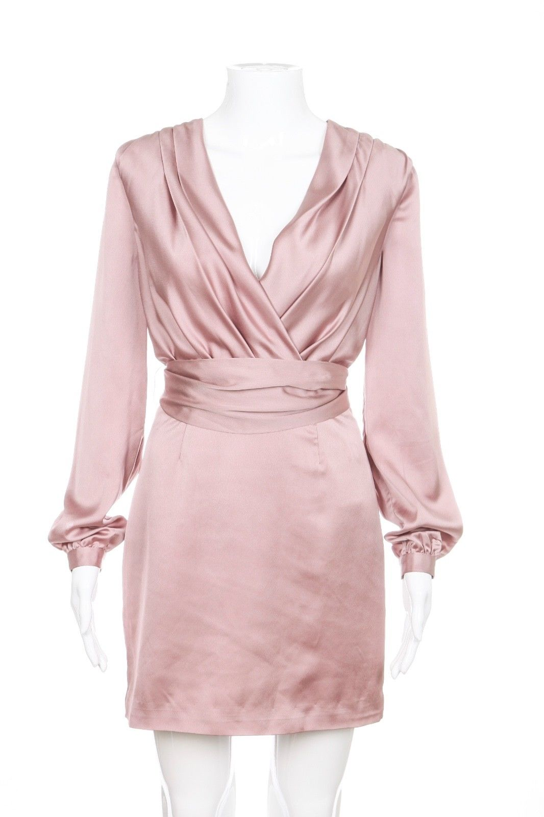 "Brand: Finders Keepers  Style: Wrap Neck, V-Neck  Size: X-Small, 33""(Total Length)  Color: Dusty Rose  Material:  100% Polyester  Condition: Excellent"