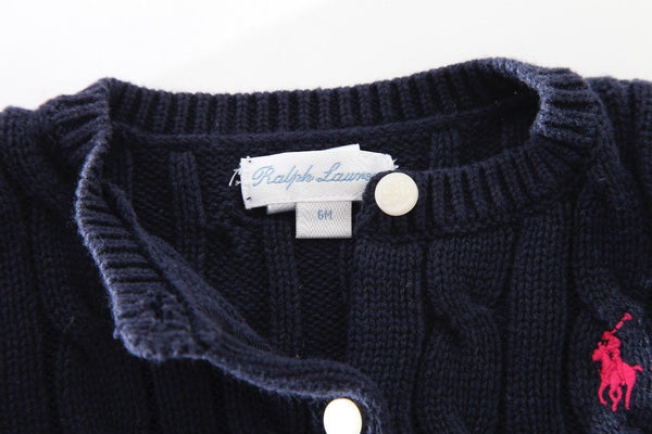 RALPH LAUREN Baby Girl Knit Cardigan 2 Piece Set
