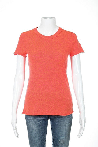 J.CREW COLLECTION Top Small Italian Cashmere Orange Crew Neck Sweater