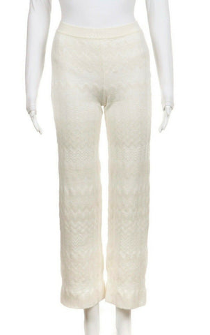 MISSONI Wool Blend Knit Pants, Size Small