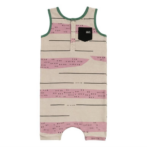 RAGS TO RACHES Baby Girl Romper One Piece (New)