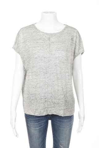 MADEWELL Top Size XS Heather Grey Gray Loose Fit Short Sleeve Tee T-shirt