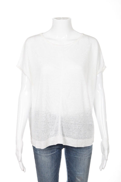 MADEWELL Top Size XS White Ivory Loose Fit Short Sleeve Tee T-shirt