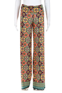 UNBRANDED Printed Retro Print Pants Size M