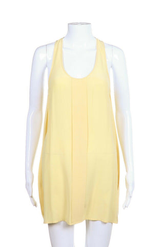 ALEXANDER WANG Silk Tank Mini Dress Yellow Size XS