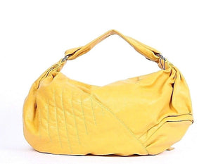 DAUTORE Hobo Handbag Leather Yellow