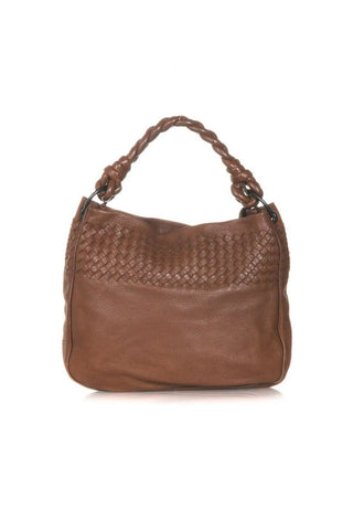 BOTTEGA VENETA Cervo Leather Intrecciato Shoulder Bag