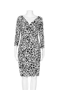 LAUREN BY RALPH LAUREN Faux Wrap Dress