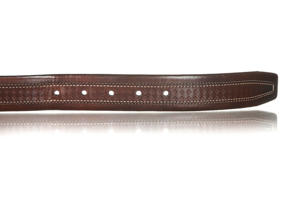 MEZLAN Leather Belt with Top Stitch - 5 hole