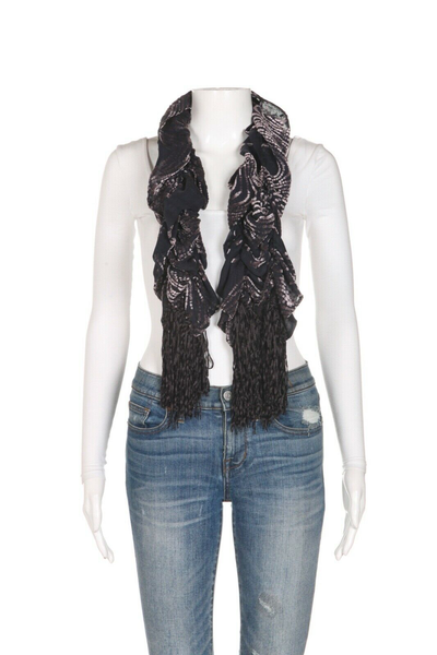 THE DORI COLLECTION Beverly Hills Velvet Ruffle Scarf