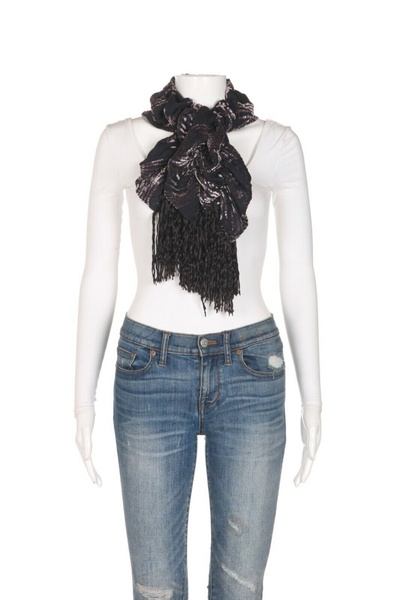 THE DORI COLLECTION Beverly Hills Velvet Ruffle Scarf - styled 2