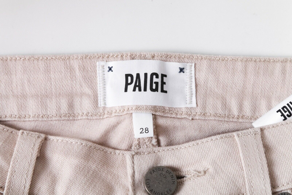 PAIGE Serenity Cara Color Block Jeans - designer tag
