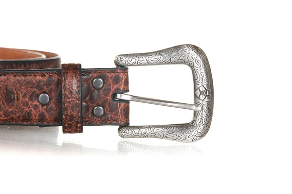 ARIAT Embossed Leather Western Belt - buckle