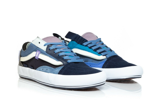 VANS Old Skool Cap Skate Sneakers in Blue - side view