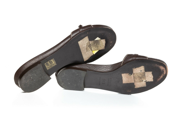 PRADA Leather Sandal Slides - bottom view