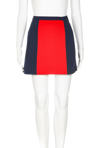 CLUB MONACO Colorblock A-Line Skirt