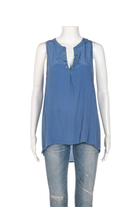 JOIE Silk Deasia Sleeveless Blouse