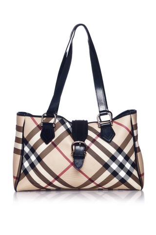 BURBERRY Nova Check Diaper Bag