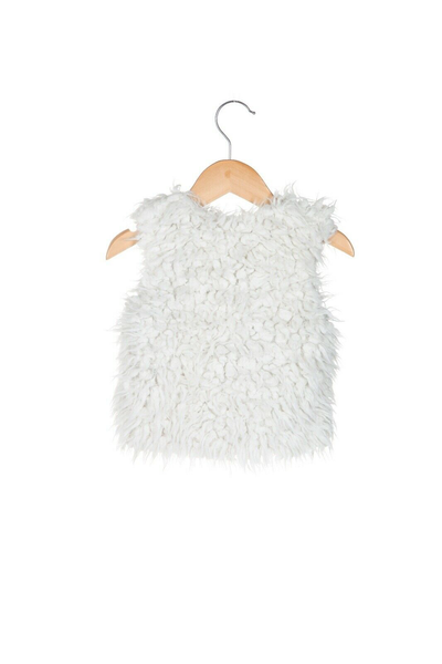 OSHKOSH Faux Fur Vest - back view
