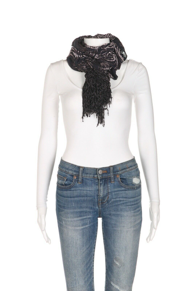 THE DORI COLLECTION Beverly Hills Velvet Ruffle Scarf - styled 1