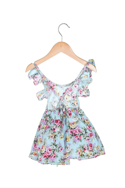 CHICA BOO Floral Apron Dress  - back view