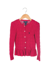 POLO RALPH LAUREN Cable Knit Peplum Sweater