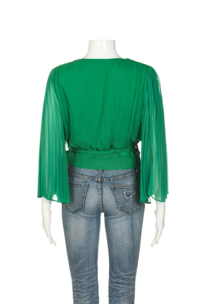 ALICE + OLIVIA Silk Wrap Blouse - back view