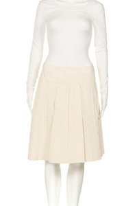 HUGO BOSS Pleated Silk Flared Skirt