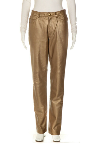 HUGO BUSCATI COLLECTION Metallic Coated Pants