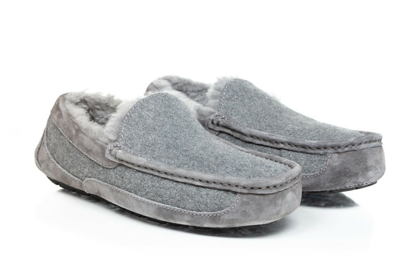 UGG Ascot Wool Suede Slippers - side view