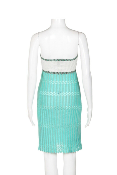 M MISSONI Strapless Knit Dress - back view