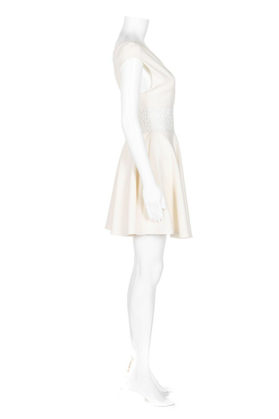 MAJE Royal Lace Inset Dress - side view