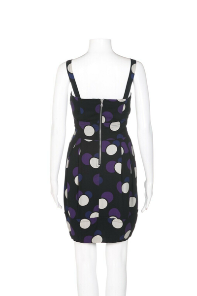 MARC BY MARC JACOBS Polka Dot Silk Dress - back view