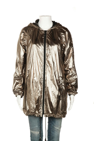 ZARA Metallic Zip-Up Jacket