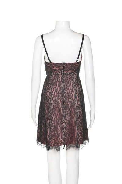 COREY LYNN CALTER Lace Slip Dress - back view