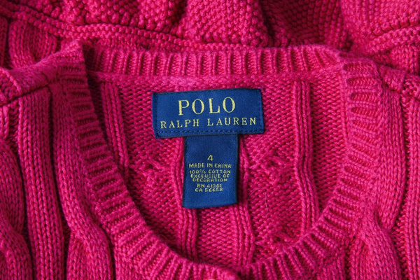 POLO RALPH LAUREN Cable Knit Peplum Sweater - designer tag