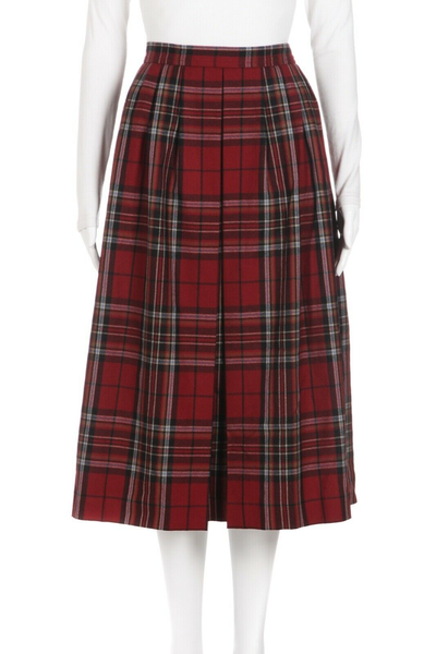 YVES SAINT LAURENT RIVE GAUCHE Plaid Pleated Vintage Skirt